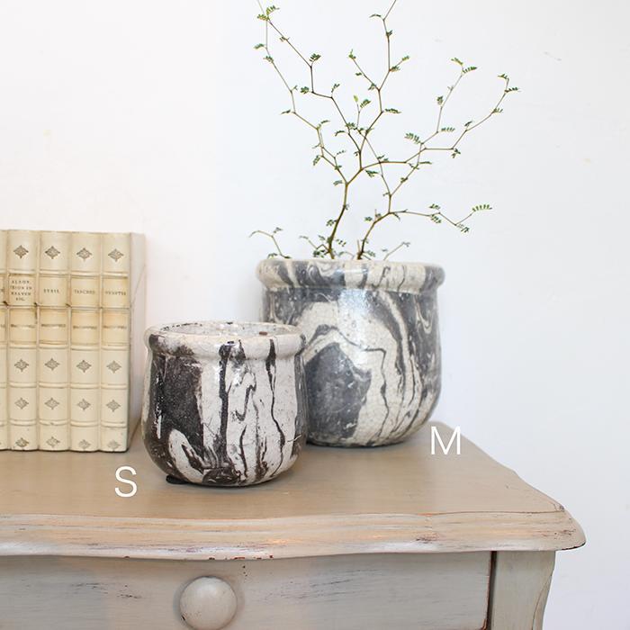 花びん 花瓶 花器 MONO セラミック Mサイズ マーブルブラック08
