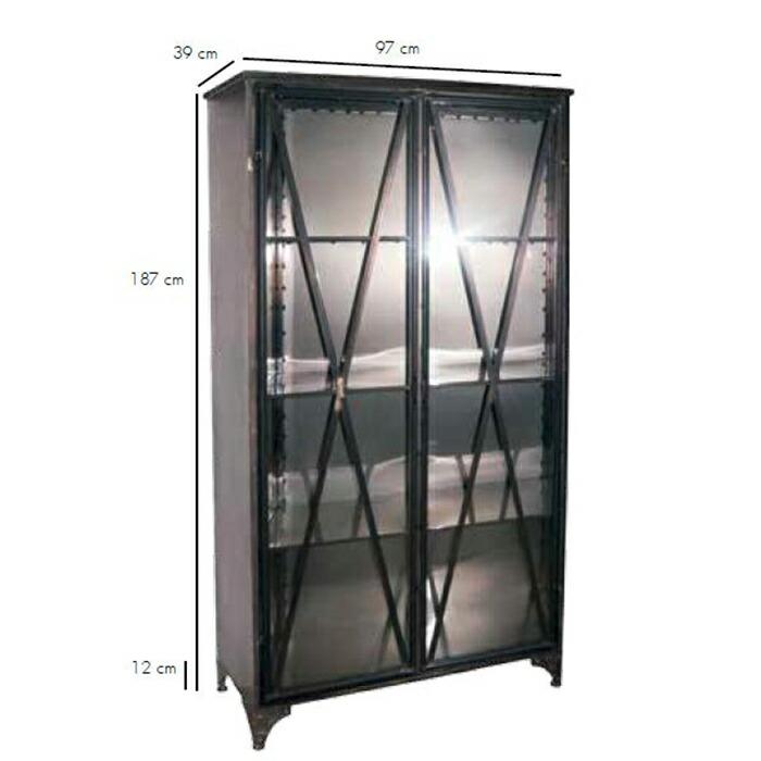 SIMPLE メタルキャビネット2ドア/ブラック02