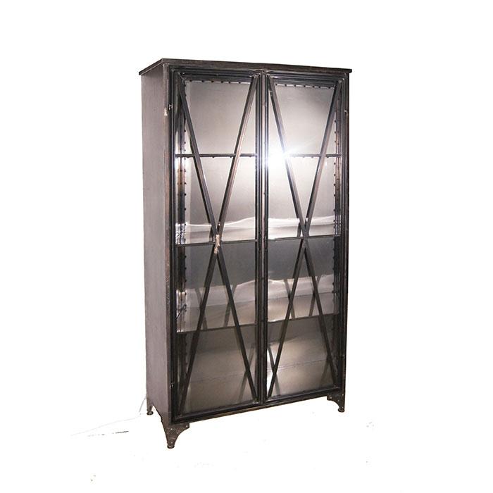 SIMPLE メタルキャビネット2ドア/ブラック03