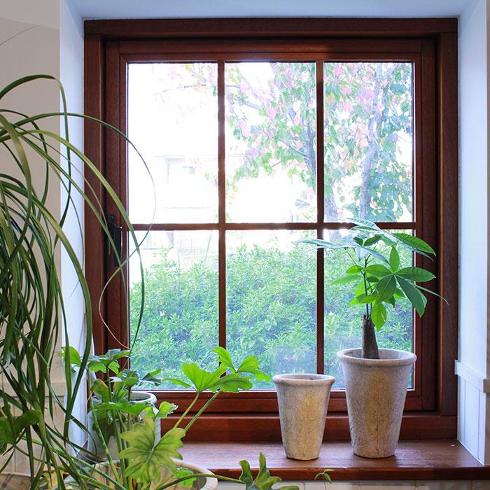 JAIリーフ 鉢カバー Mサイズ ナチュラル セメント  観葉植物 リーフ柄12