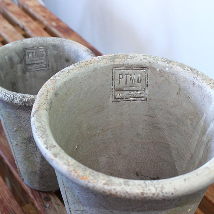 JAIリーフ 鉢カバー Mサイズ ナチュラル セメント  観葉植物 リーフ柄06