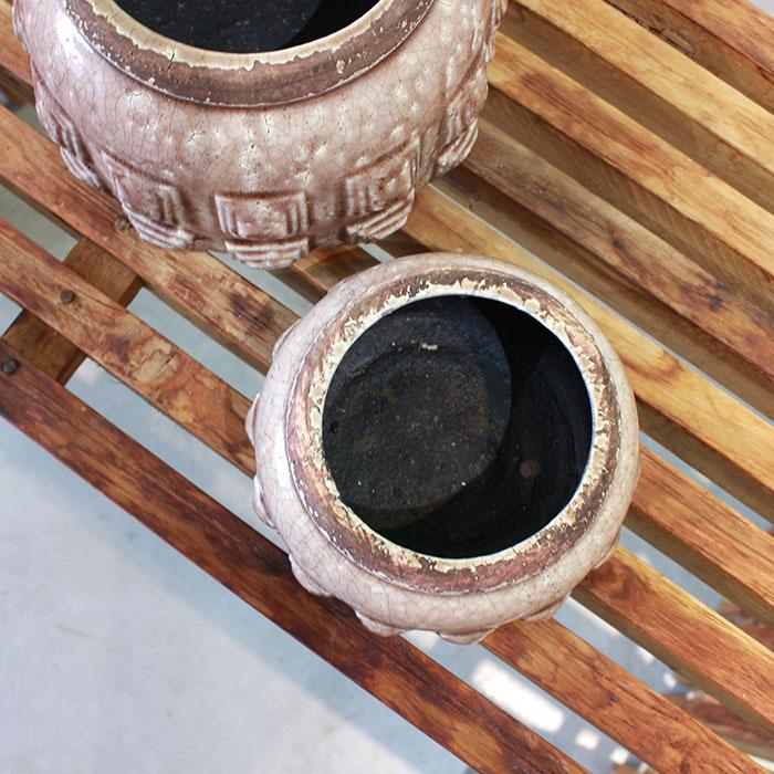 LIVY 鉢カバー Sサイズ ピンク 陶器  観葉植物 アンティーク調04