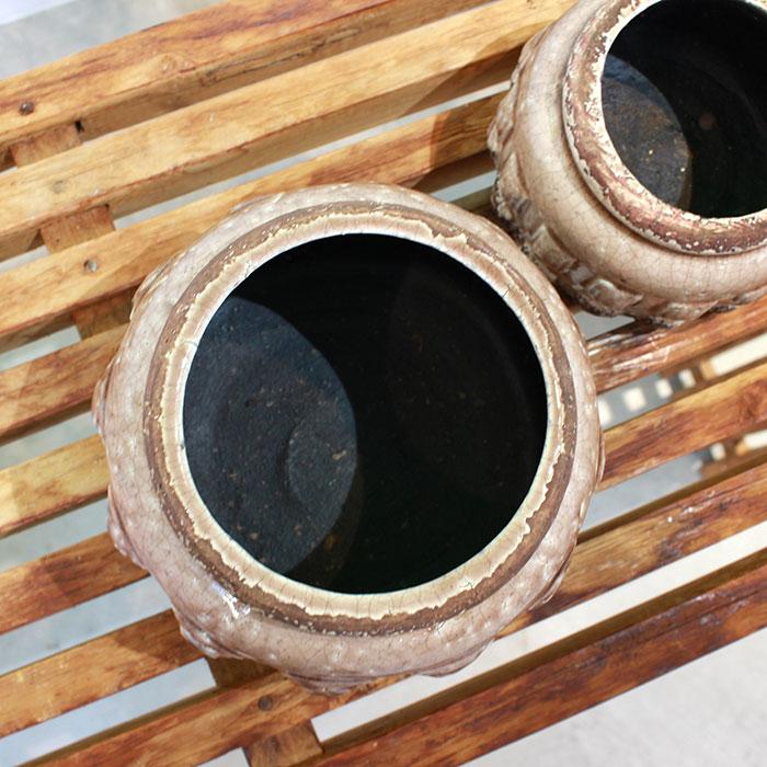 LIVY 鉢カバー Lサイズ ピンク 陶器  観葉植物 アンティーク調04