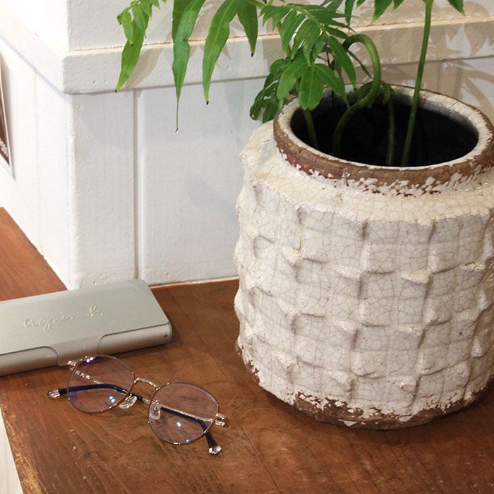 MILEY 鉢カバー Lサイズ ホワイト 陶器  鉢カバー 観葉植物 アンティーク調10