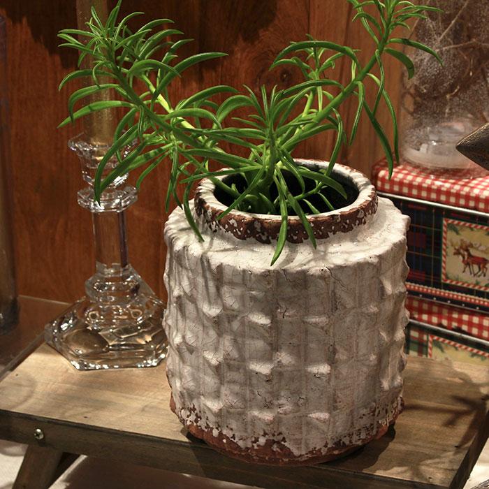 MILEY 鉢カバー Lサイズ ホワイト 陶器  鉢カバー 観葉植物 アンティーク調11