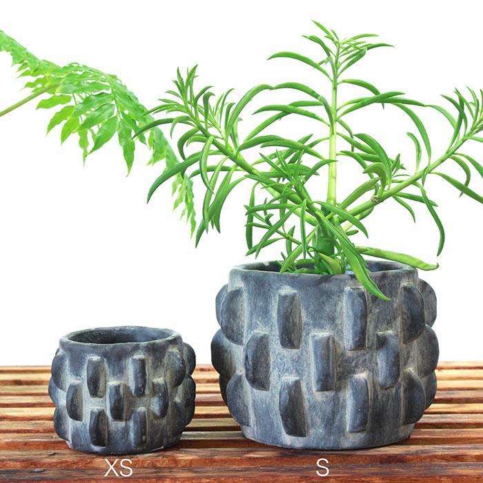 DOR 鉢カバー Sサイズ ダークグレー セメント  鉢カバー 観葉植物 シック01