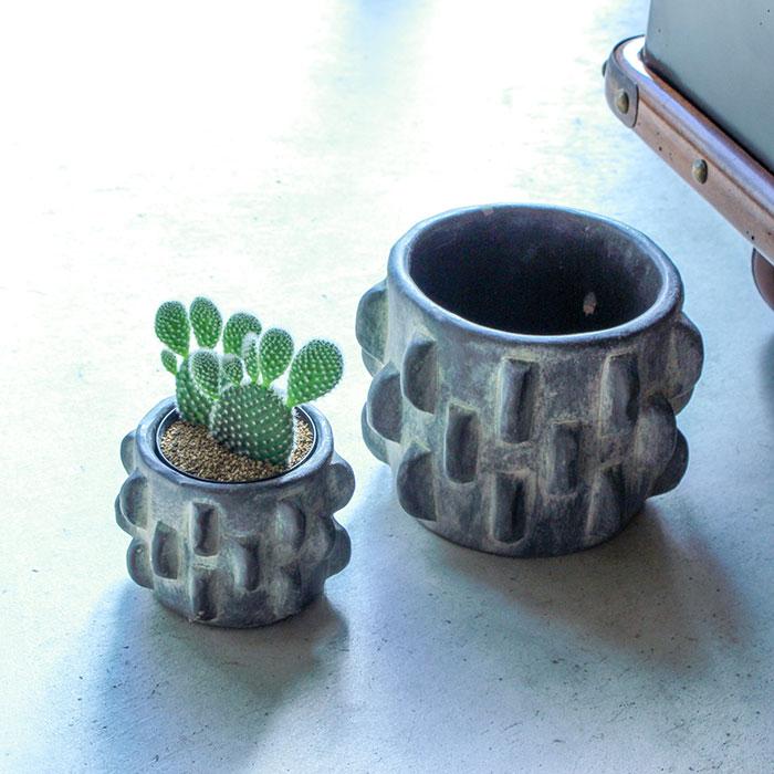 DOR 鉢カバー Sサイズ ダークグレー セメント  鉢カバー 観葉植物 シック10