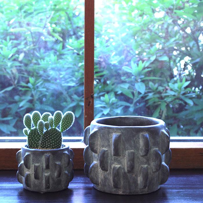 DOR 鉢カバー Sサイズ ダークグレー セメント  鉢カバー 観葉植物 シック11