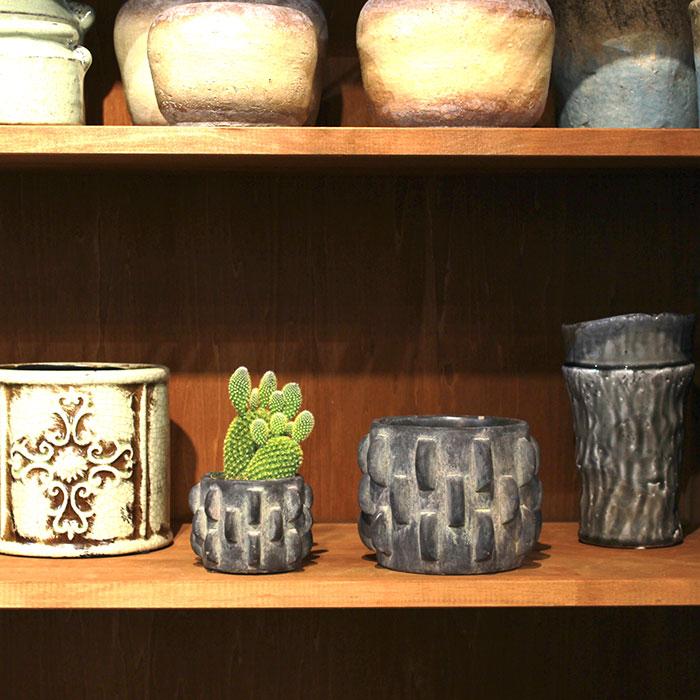 DOR 鉢カバー Sサイズ ダークグレー セメント  鉢カバー 観葉植物 シック12