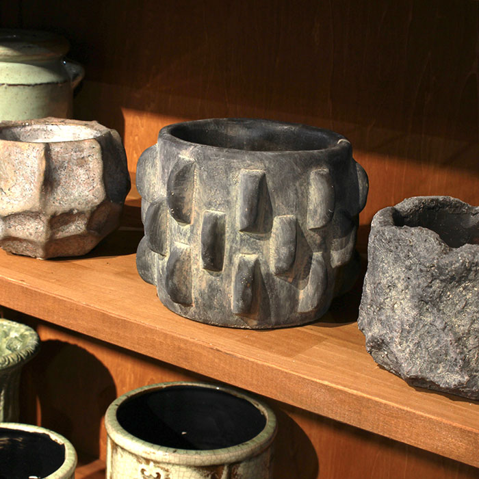 DOR 鉢カバー Sサイズ ダークグレー セメント  鉢カバー 観葉植物 シック13
