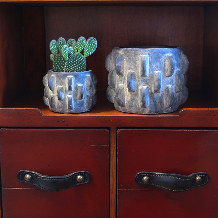 DOR 鉢カバー Sサイズ ダークグレー セメント  鉢カバー 観葉植物 シック14