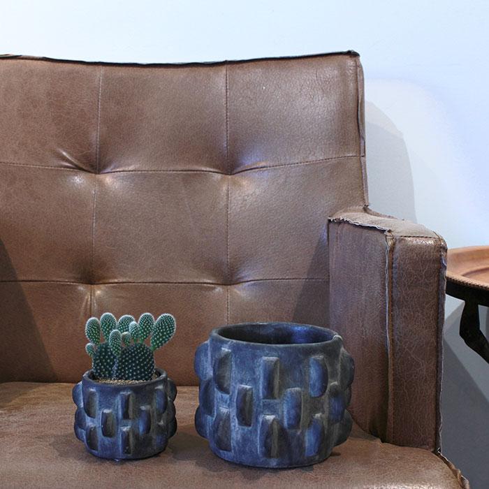 DOR 鉢カバー Sサイズ ダークグレー セメント  鉢カバー 観葉植物 シック15