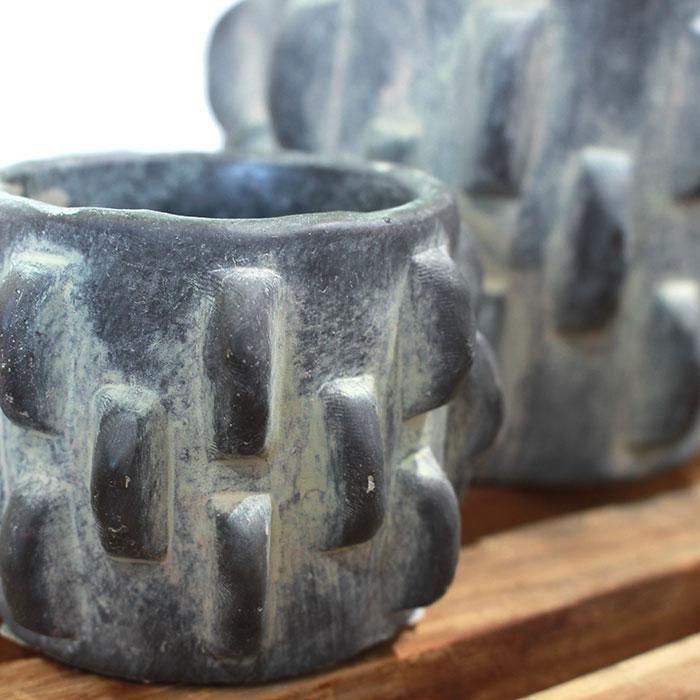 DOR 鉢カバー Sサイズ ダークグレー セメント  鉢カバー 観葉植物 シック04