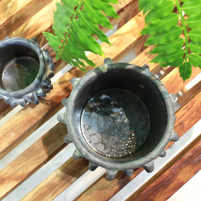 DOR 鉢カバー Sサイズ ダークグレー セメント  鉢カバー 観葉植物 シック05