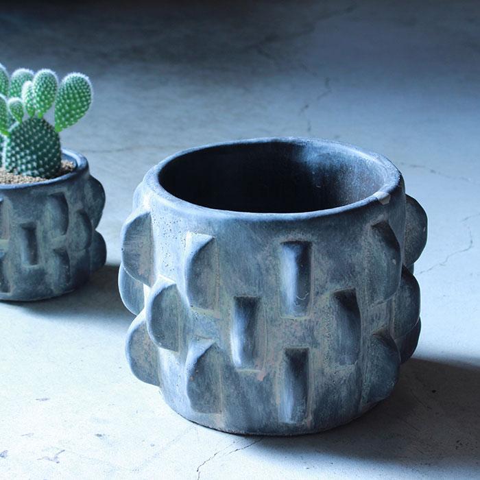 DOR 鉢カバー Sサイズ ダークグレー セメント  鉢カバー 観葉植物 シック06