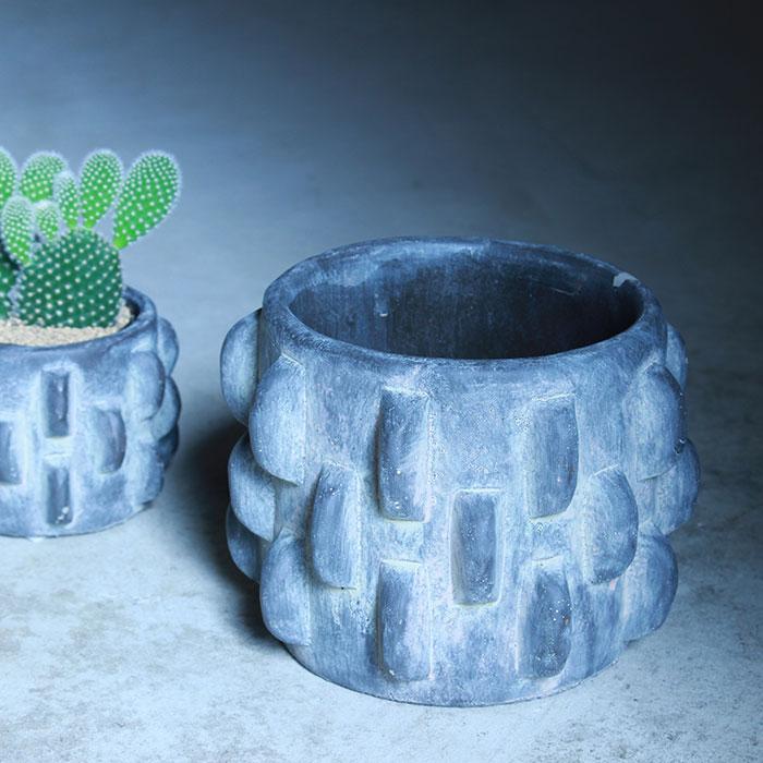 DOR 鉢カバー Sサイズ ダークグレー セメント  鉢カバー 観葉植物 シック07