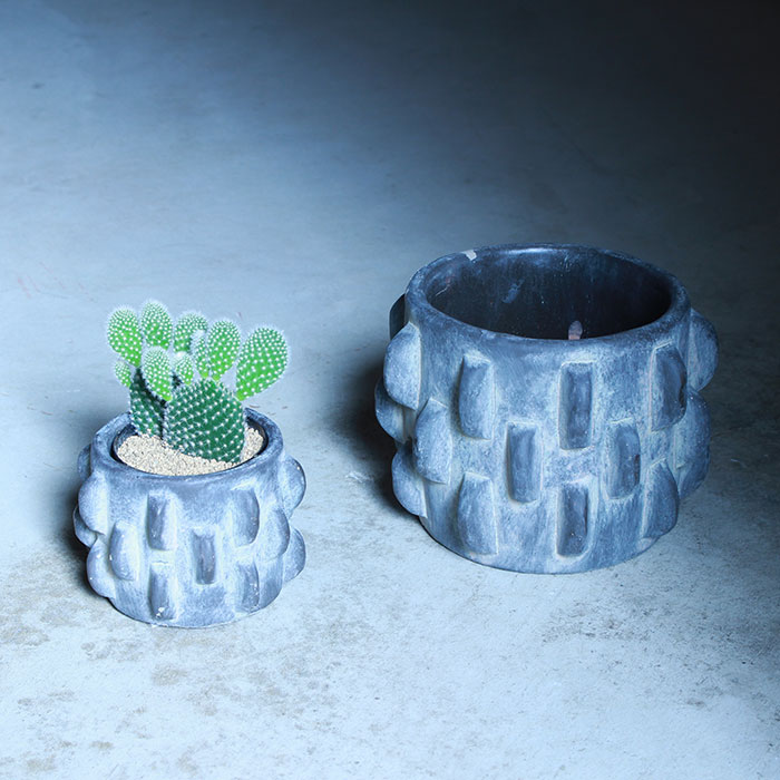 DOR 鉢カバー Sサイズ ダークグレー セメント  鉢カバー 観葉植物 シック09