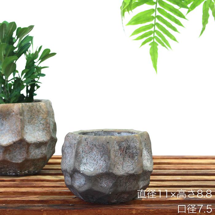 TODD 鉢カバー Sサイズ ゴールド セメント  鉢カバー 観葉植物