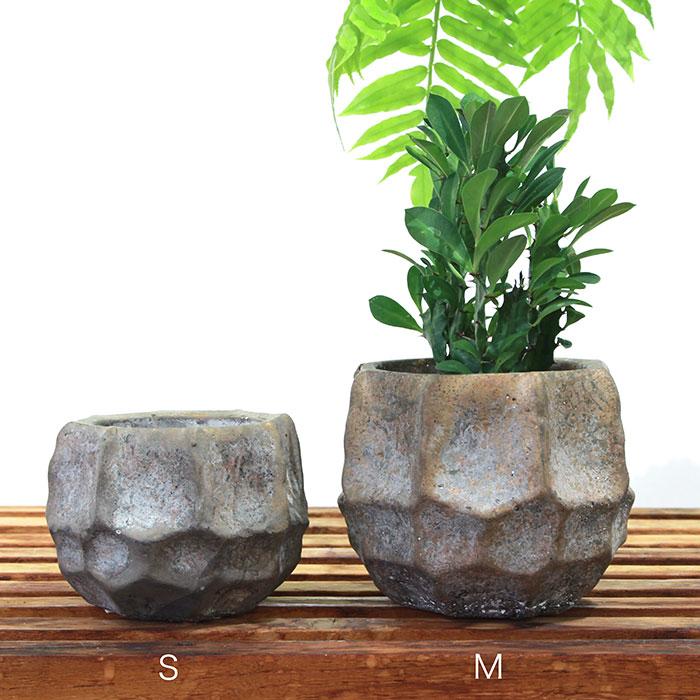TODD 鉢カバー Sサイズ ゴールド セメント  鉢カバー 観葉植物01