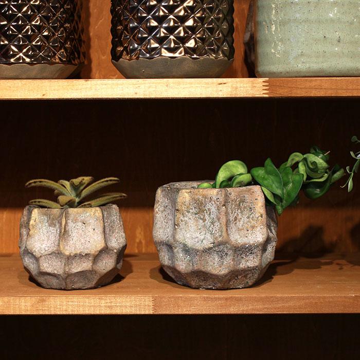 TODD 鉢カバー Sサイズ ゴールド セメント  鉢カバー 観葉植物05