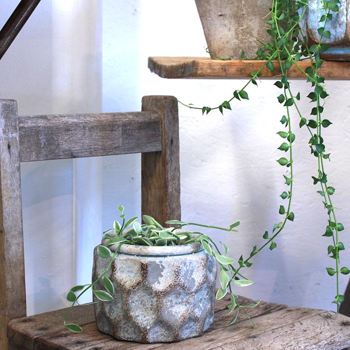 CARIOS 鉢カバー Sサイズ ブラウン セメント  鉢カバー 観葉植物10