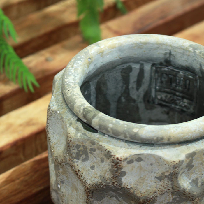 CARIOS 鉢カバー Sサイズ ブラウン セメント  鉢カバー 観葉植物02