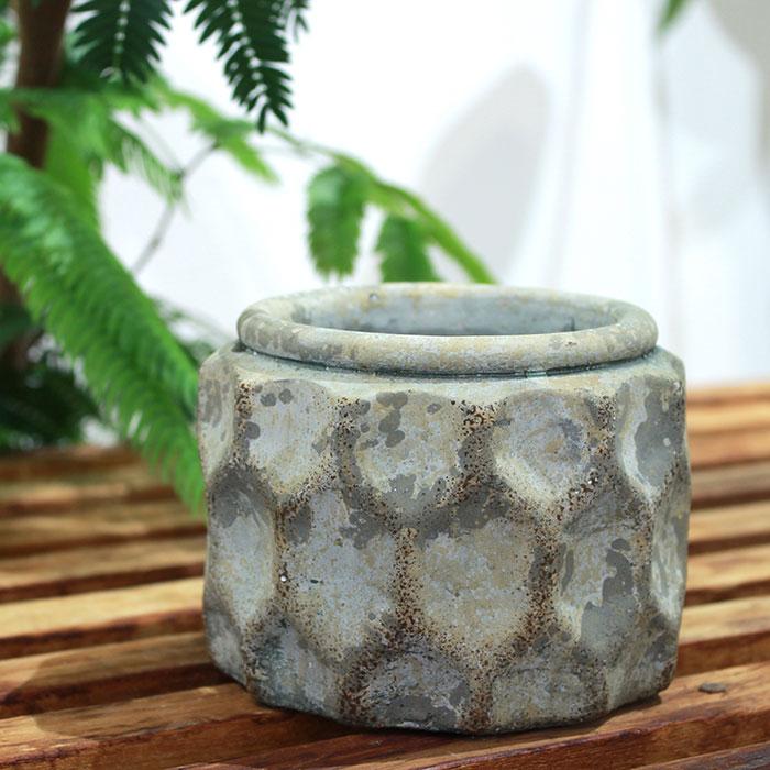 CARIOS 鉢カバー Sサイズ ブラウン セメント  鉢カバー 観葉植物03