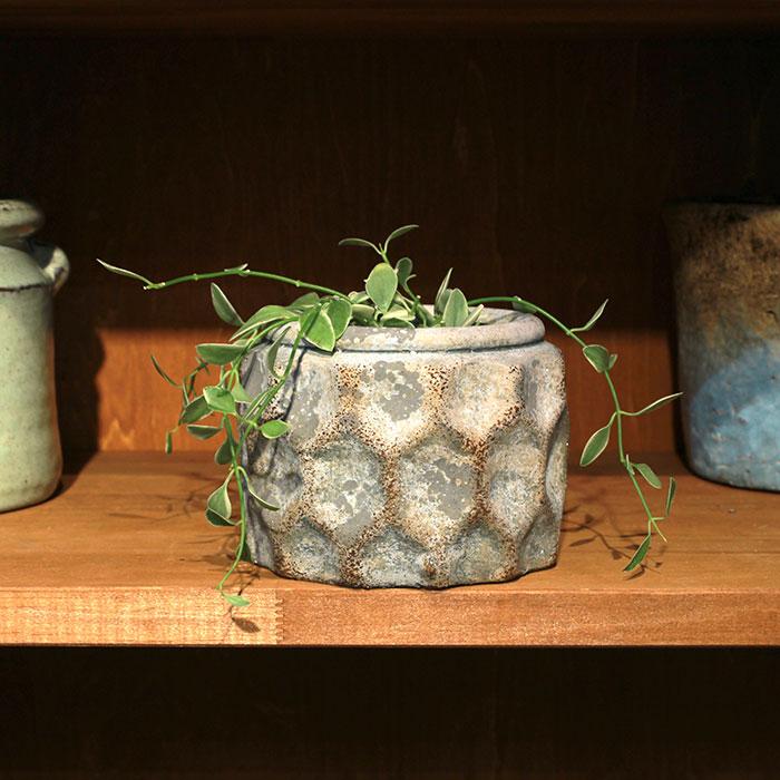 CARIOS 鉢カバー Sサイズ ブラウン セメント  鉢カバー 観葉植物04