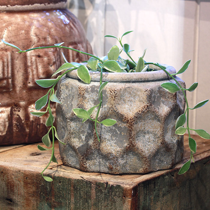 CARIOS 鉢カバー Sサイズ ブラウン セメント  鉢カバー 観葉植物06