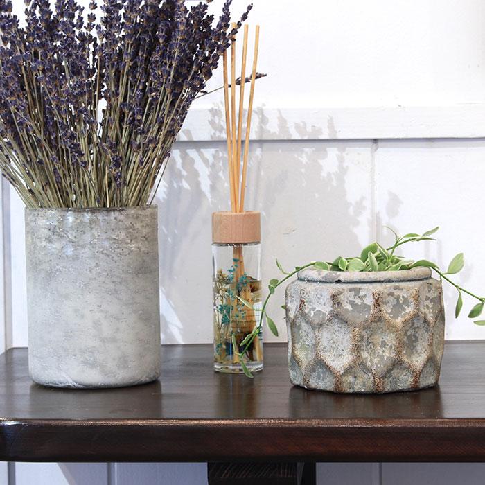 CARIOS 鉢カバー Sサイズ ブラウン セメント  鉢カバー 観葉植物07