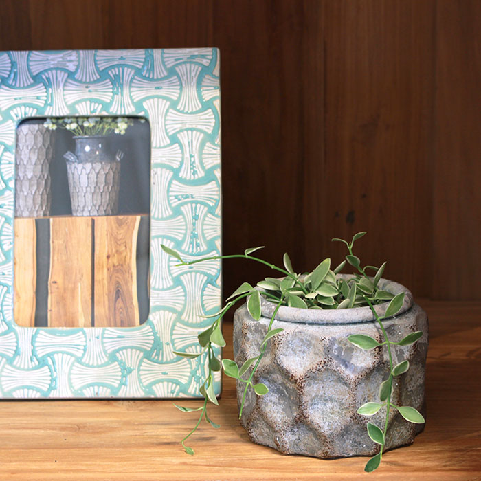 CARIOS 鉢カバー Sサイズ ブラウン セメント  鉢カバー 観葉植物08