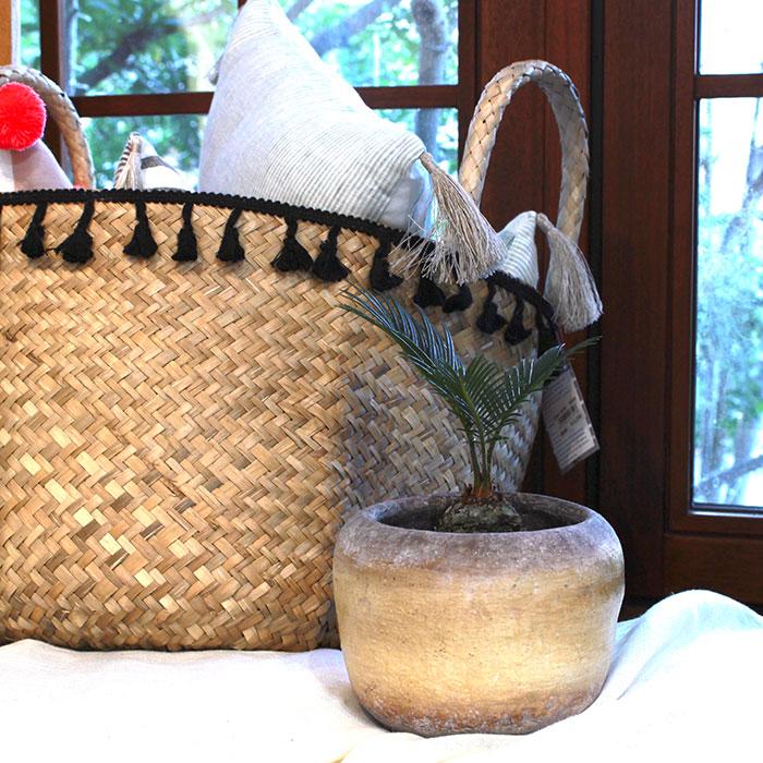 ALY 鉢カバー Mサイズ イエロー 陶器  鉢カバー 観葉植物10