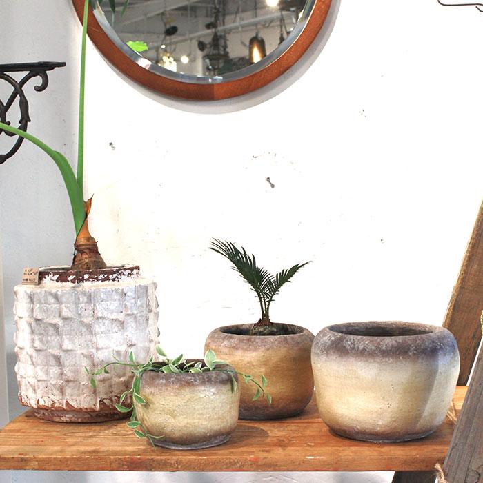 ALY 鉢カバー Mサイズ イエロー 陶器  鉢カバー 観葉植物12