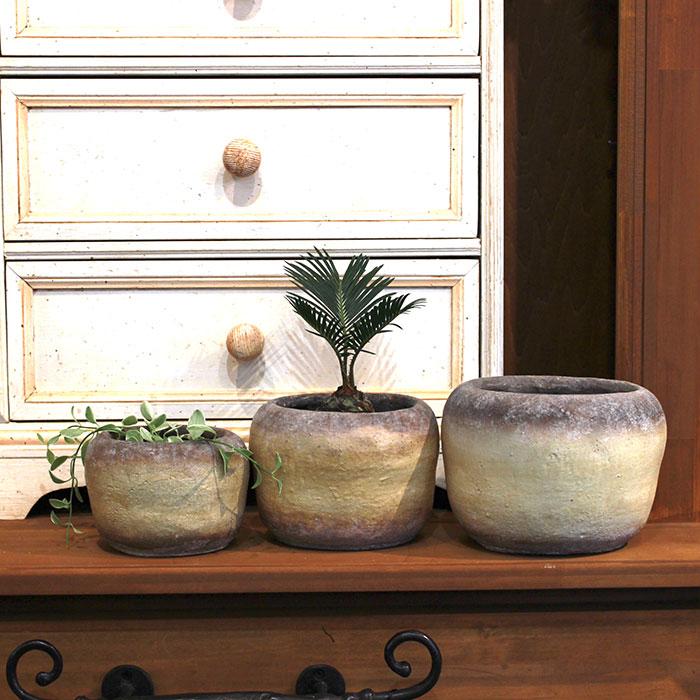 ALY 鉢カバー Mサイズ イエロー 陶器  鉢カバー 観葉植物09