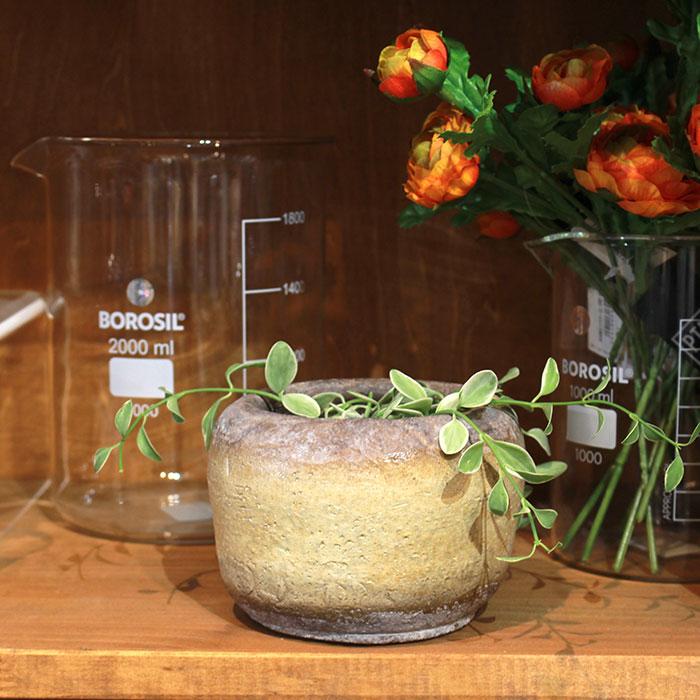 ALY 鉢カバー Sサイズ イエロー 陶器  鉢カバー 観葉植物10