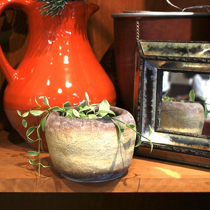 ALY 鉢カバー Sサイズ イエロー 陶器  鉢カバー 観葉植物11