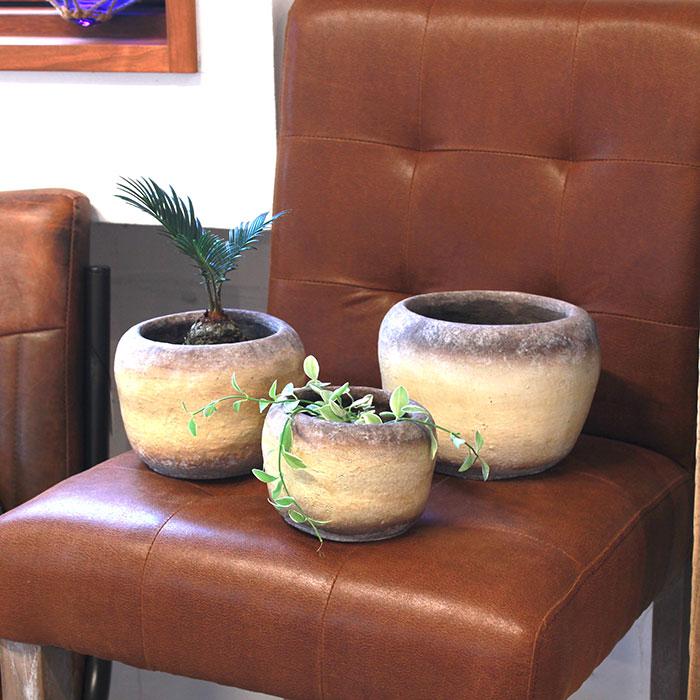 ALY 鉢カバー Sサイズ イエロー 陶器  鉢カバー 観葉植物12