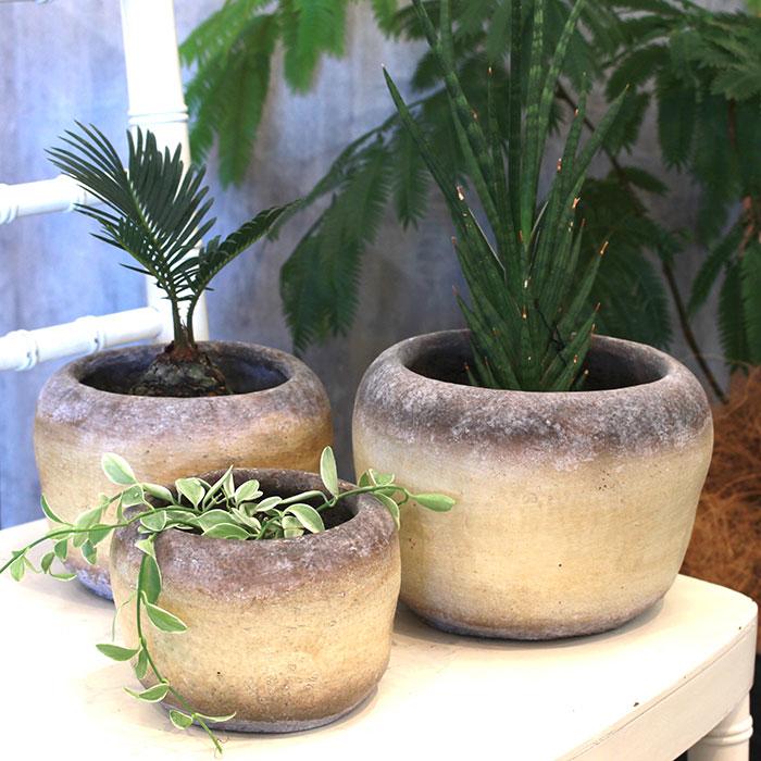 ALY 鉢カバー Sサイズ イエロー 陶器  鉢カバー 観葉植物08