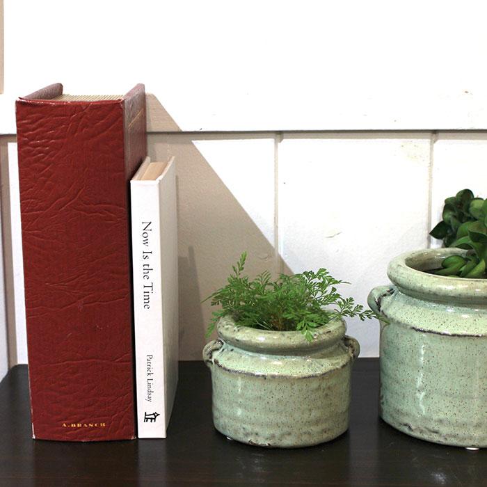 NEV 鉢カバー XSサイズ グリーン 陶器  鉢カバー 観葉植物 アンンティーク12