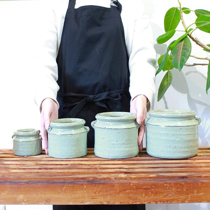 NEV 鉢カバー XSサイズ グリーン 陶器  鉢カバー 観葉植物 アンンティーク03