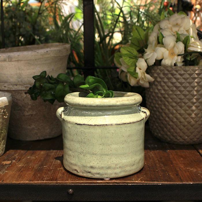 NEV 鉢カバー Mサイズ グリーン 陶器  鉢カバー 観葉植物 アンティーク調08