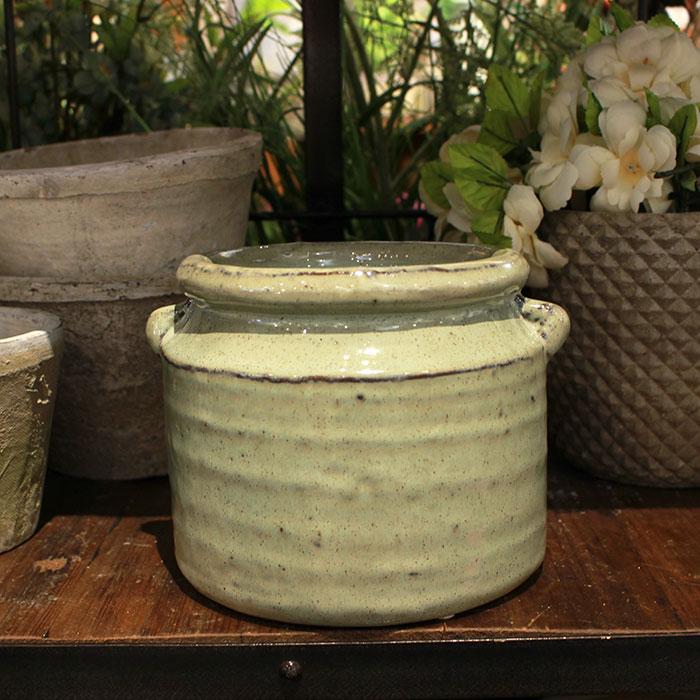 NEV 鉢カバー Lサイズ グリーン 陶器  鉢カバー 観葉植物 アンティーク調08
