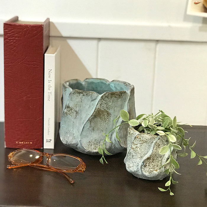 DEC BLUE 鉢カバー XSサイズ セメント  鉢カバー 観葉植物10