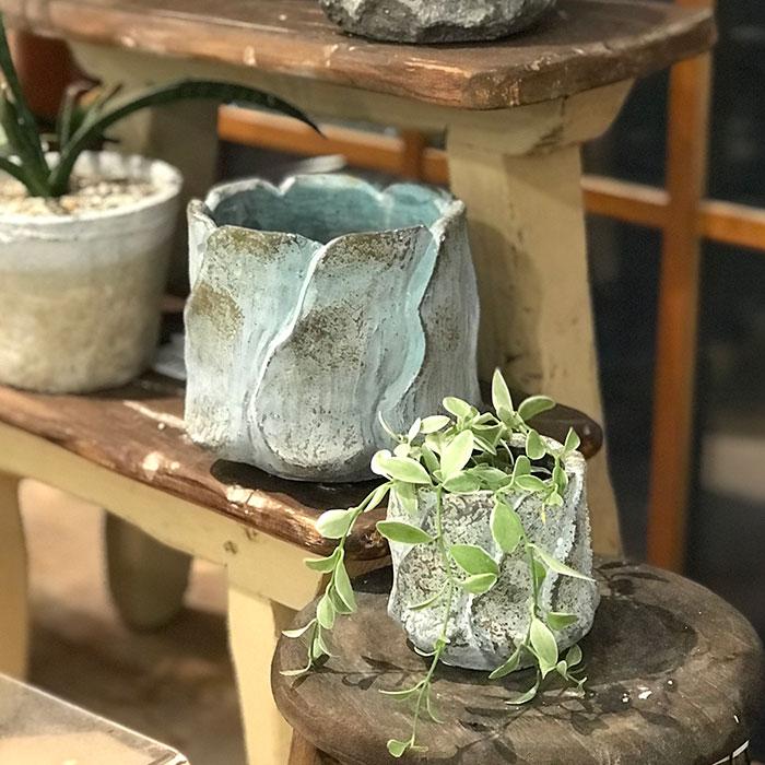 DEC BLUE 鉢カバー XSサイズ セメント  鉢カバー 観葉植物11