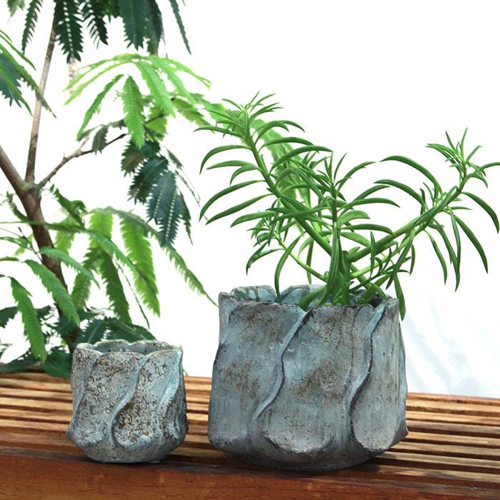 DEC BLUE 鉢カバー XSサイズ セメント  鉢カバー 観葉植物04