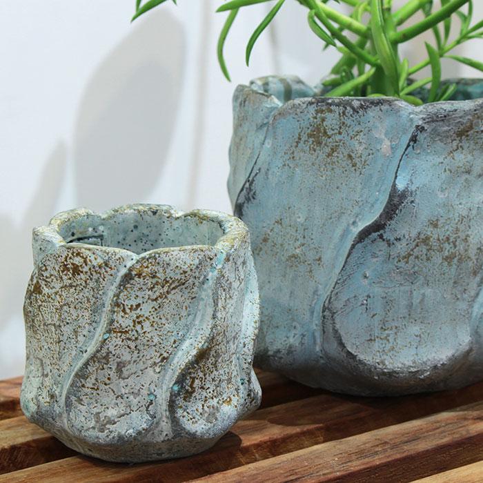 DEC BLUE 鉢カバー XSサイズ セメント  鉢カバー 観葉植物05