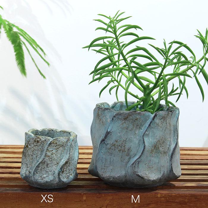 DEC BLUE  鉢カバー Mサイズ  セメント  鉢カバー 観葉植物01