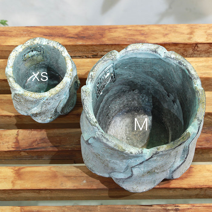 DEC BLUE  鉢カバー Mサイズ  セメント  鉢カバー 観葉植物03