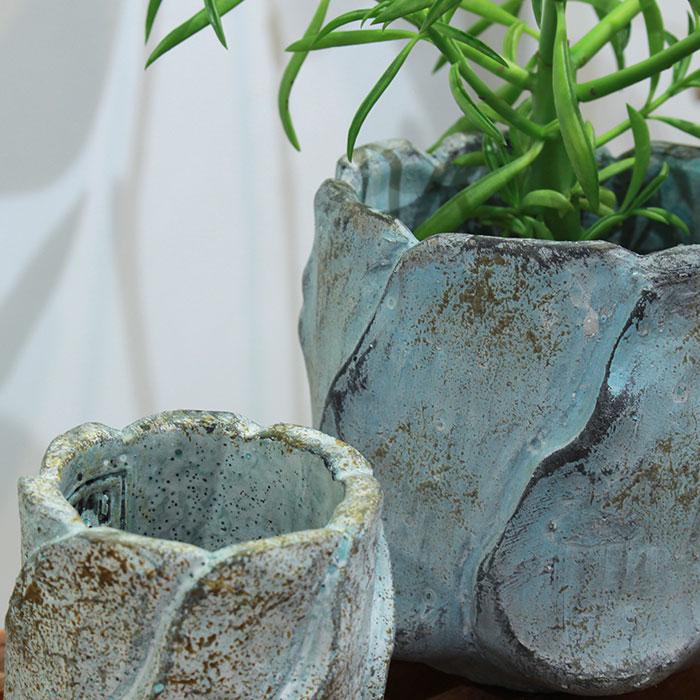 DEC BLUE  鉢カバー Mサイズ  セメント  鉢カバー 観葉植物04