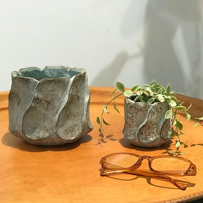 DEC BLUE  鉢カバー Mサイズ  セメント  鉢カバー 観葉植物06